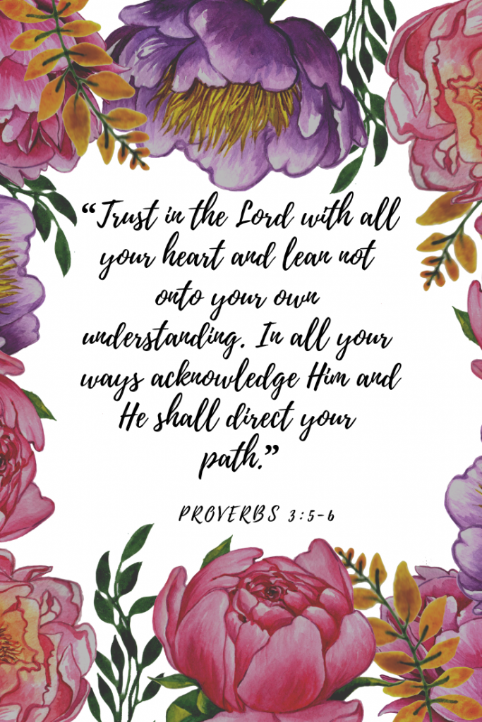 Trust the Lord verse