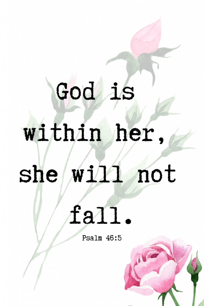 Scripture for Women Psalm 46:5