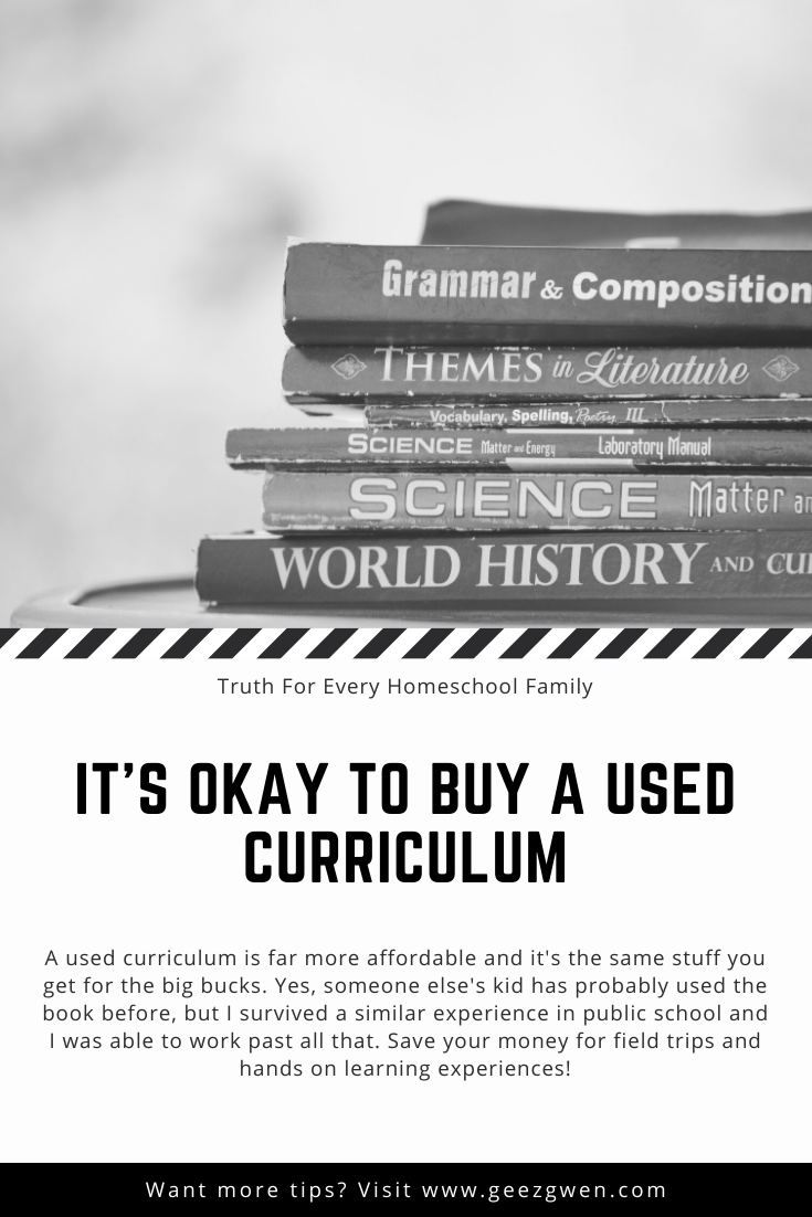 used curriculum is okay
