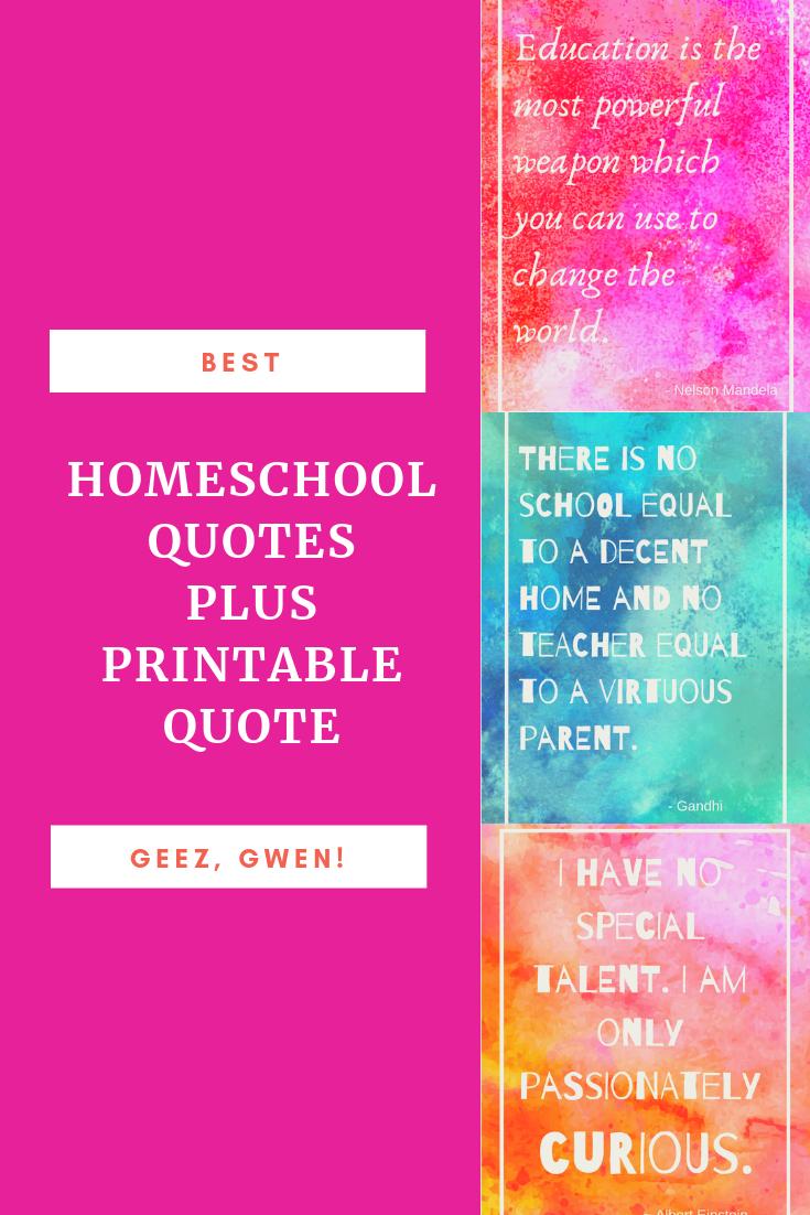 Best Homeschool Qutes