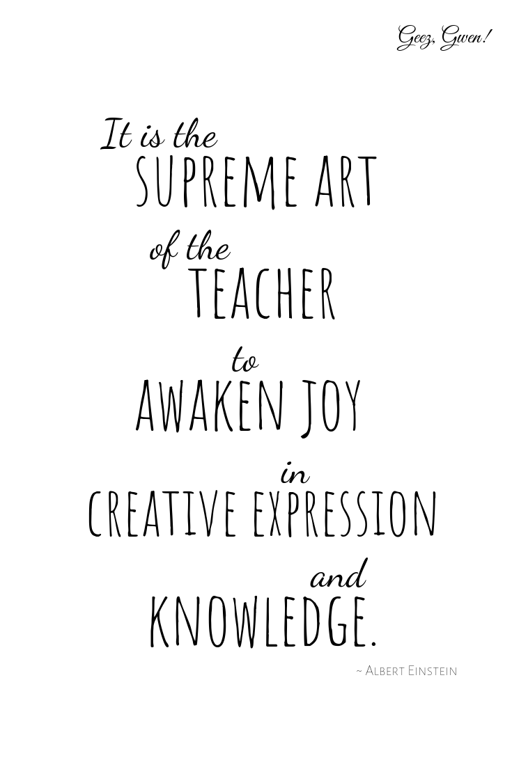 Einstein Teacher Appreciation Printable Quote