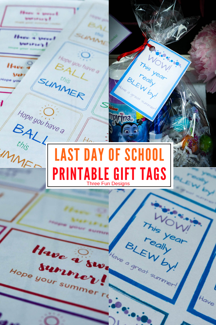 Last Day of School Student Gift Tags