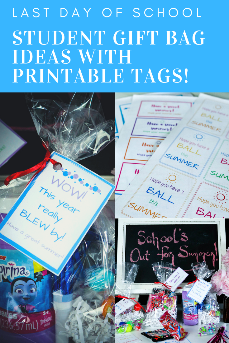 Last Day of School Student Treat Bag Ideas