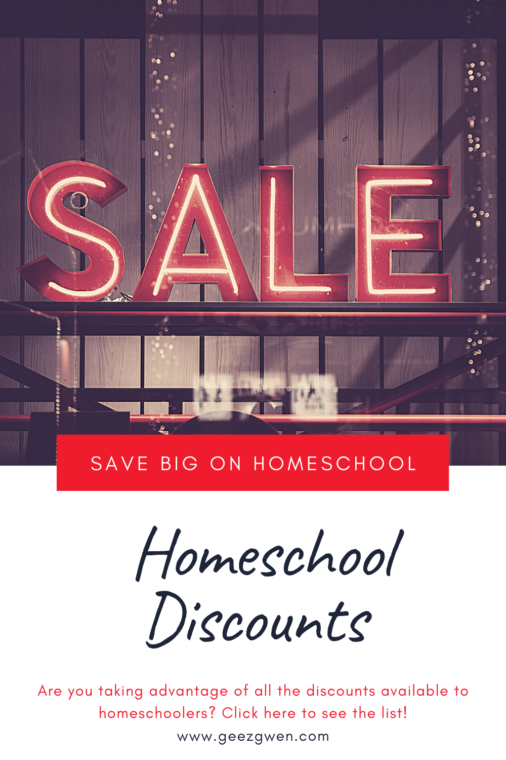 Homeschool Discounts