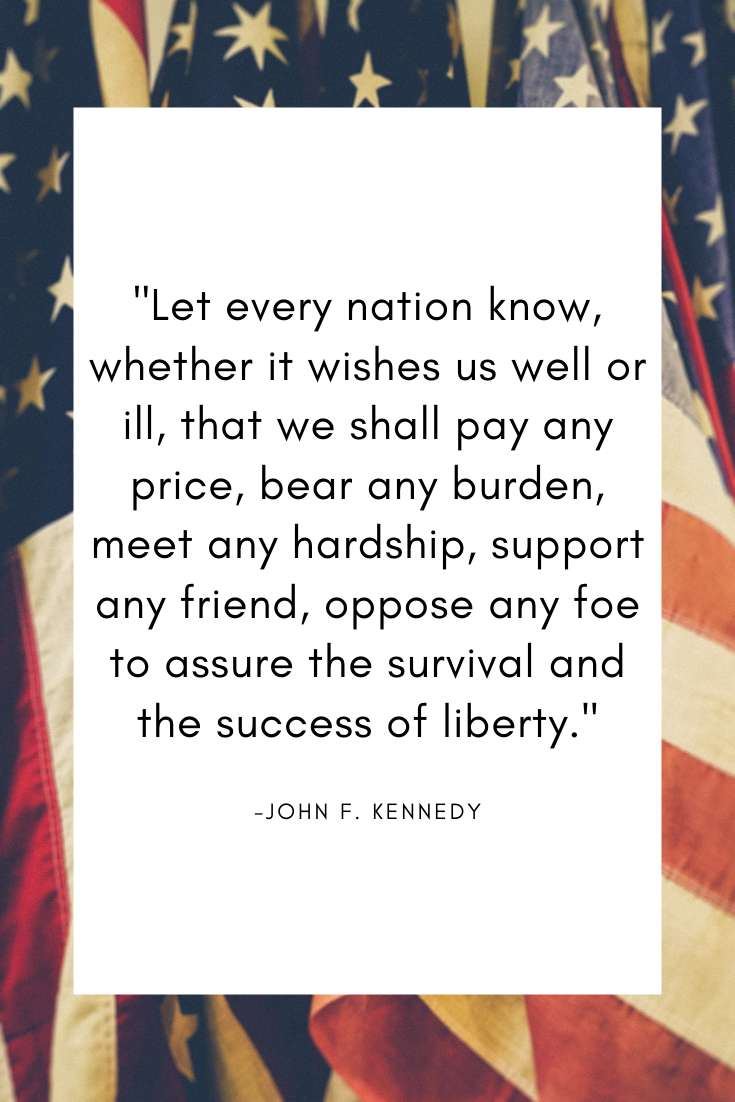 Patriot Quote President Kennedy