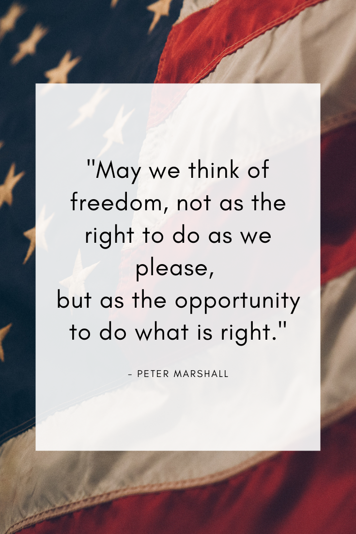 Patriot Quote for Fourth of July