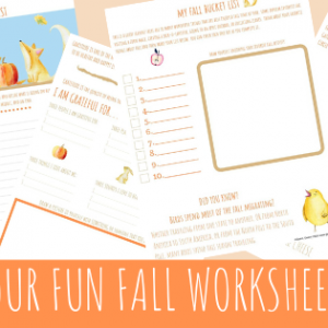 Fall Themed Printable Worksheets