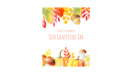 Gratitude Jar Printable Label