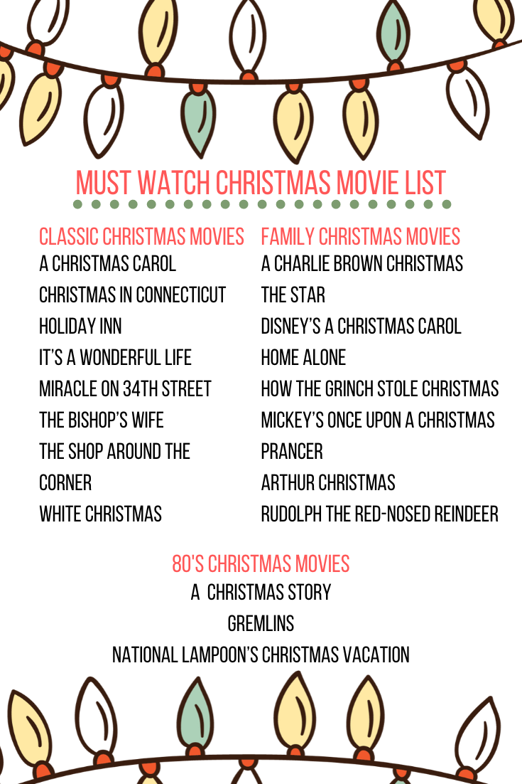Christmas Movie List