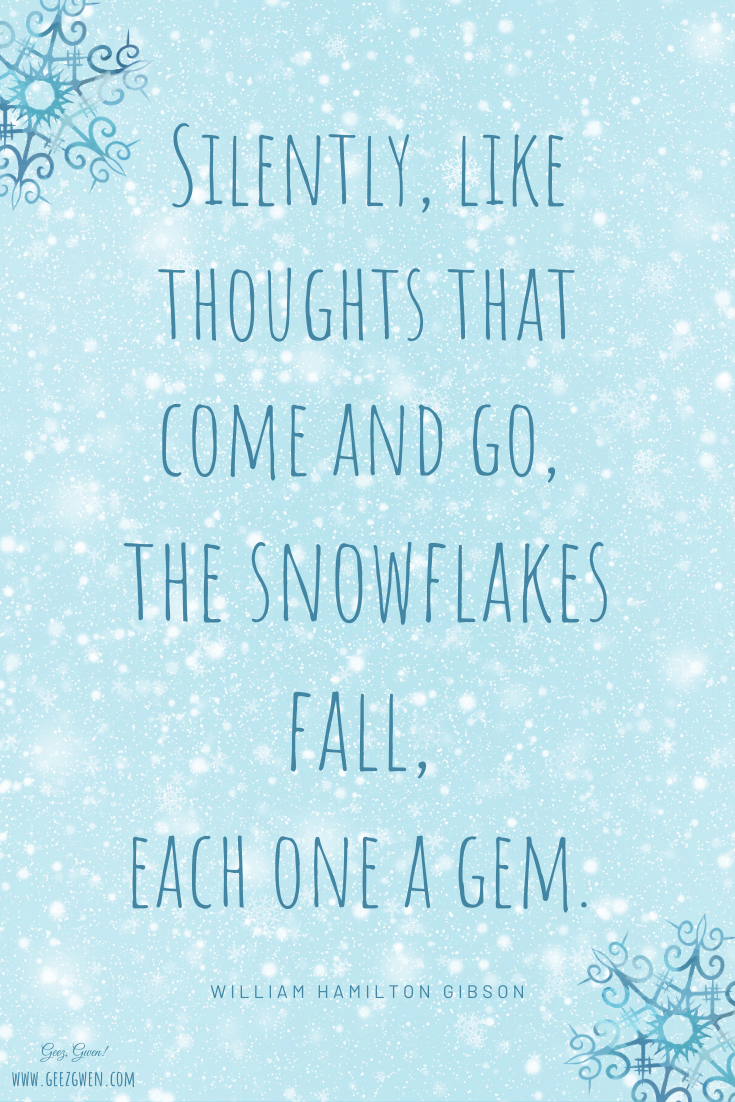 William Hamilton Gibson Quote about Snowflakes