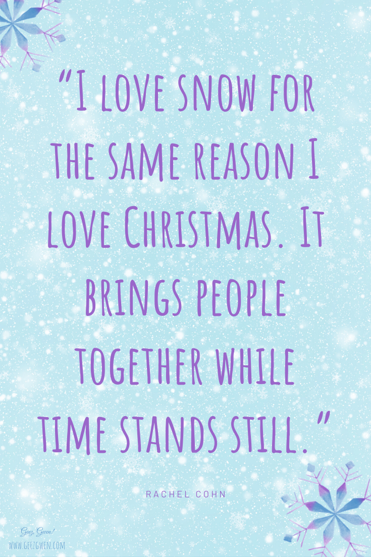 Snow brings people together snowglobe saying