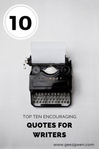 Top Ten Motivational Quotes for Writers