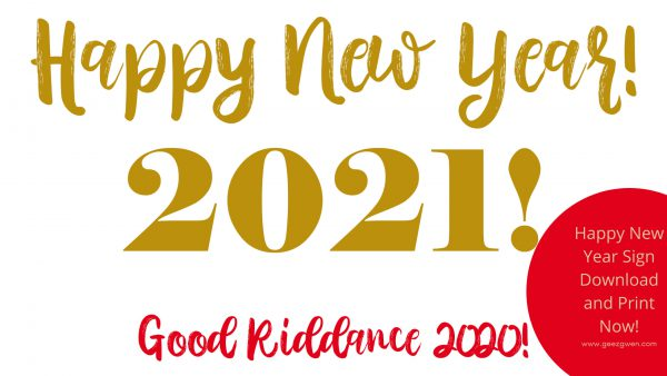 Happy New Year 2021 Print Now