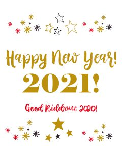 Happy New Year 2021 Print