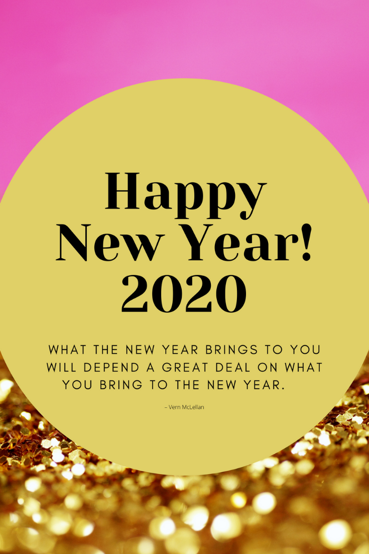 Happy New Year Print with Quote 2020