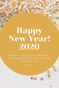 Happy New Year 2020 Pin with Quote
