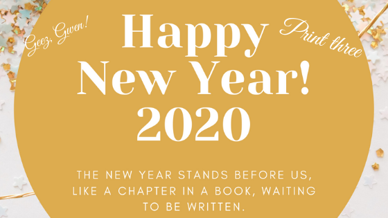 Happy New Year Print New Chapter Quote