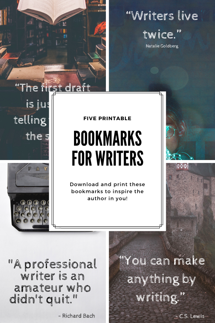 Bookmarks for Writers Print Now