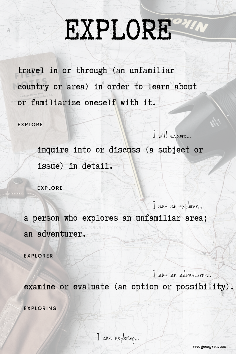 definition of explore
