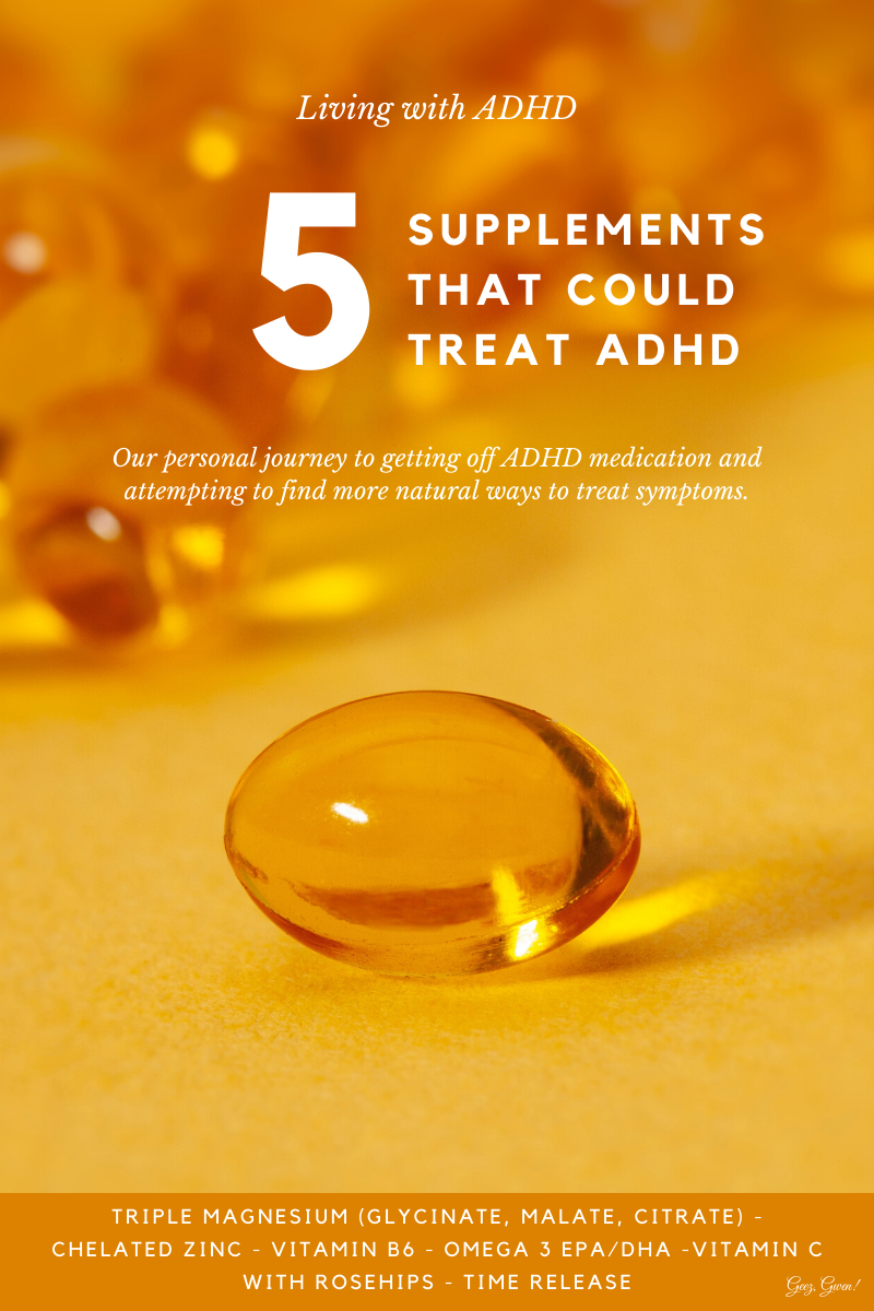 Living with ADHD - trying supplements for relief