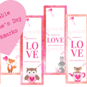 12 Valentine's Day Bookmarks to print now