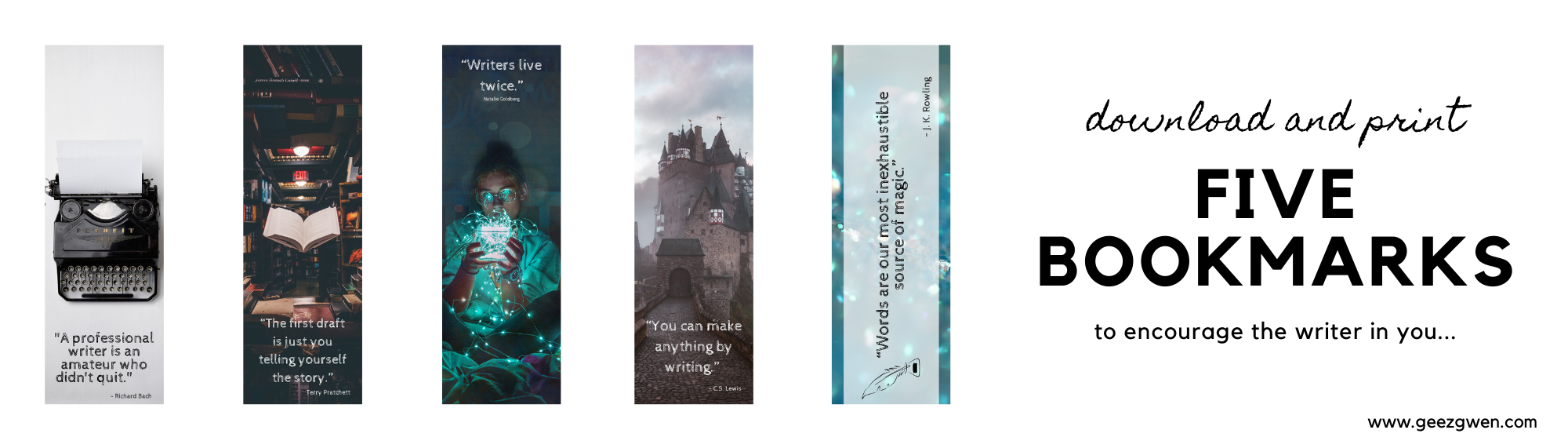 Print Bookmarks with Quotes