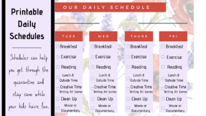 Printable Daily Schedule