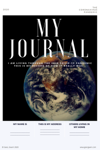 My Journal Free Printable Journal with 15 writing prompts and art space for students to record their personal experience with the 2020 coronavirus