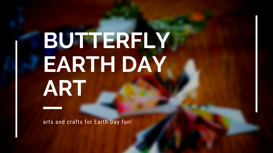 Butterfly Earth Day Art Project reuses magazine pages
