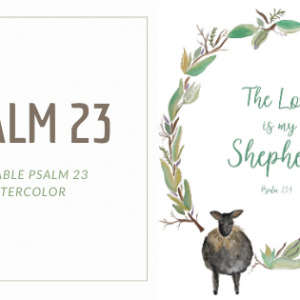 Psalm 23 Sheep Painting