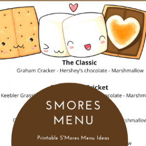 smores bar printabl menu