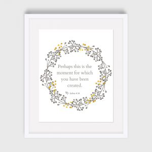 Esther 4:14 Bible Verse Print