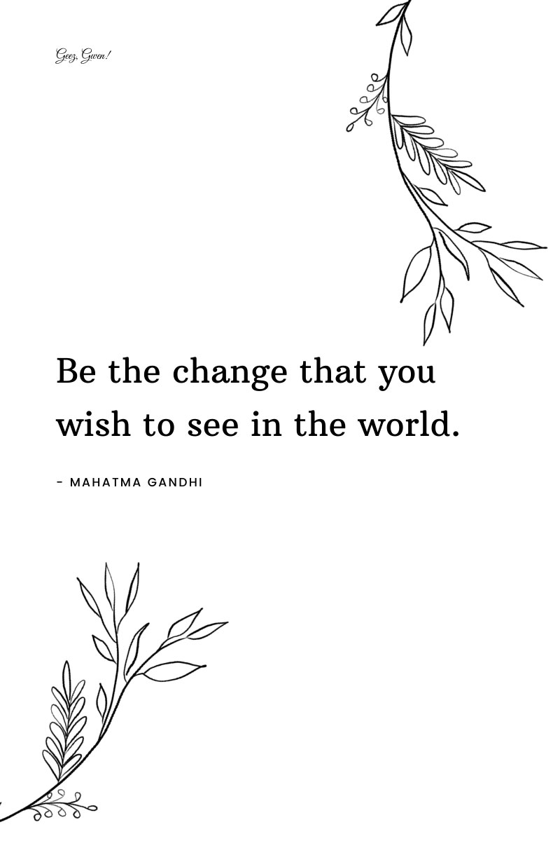 Gandhi Inspirational Quote