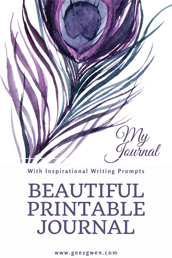 Printable inspirational Journal with Writing Prompts
