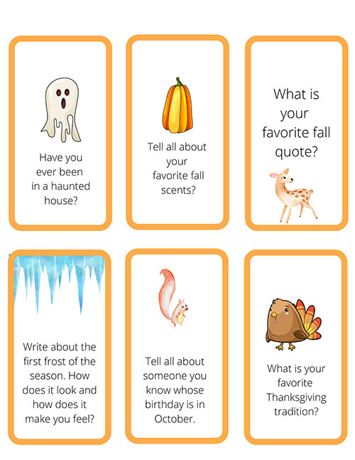 Fall Writing Prompts for Classroom