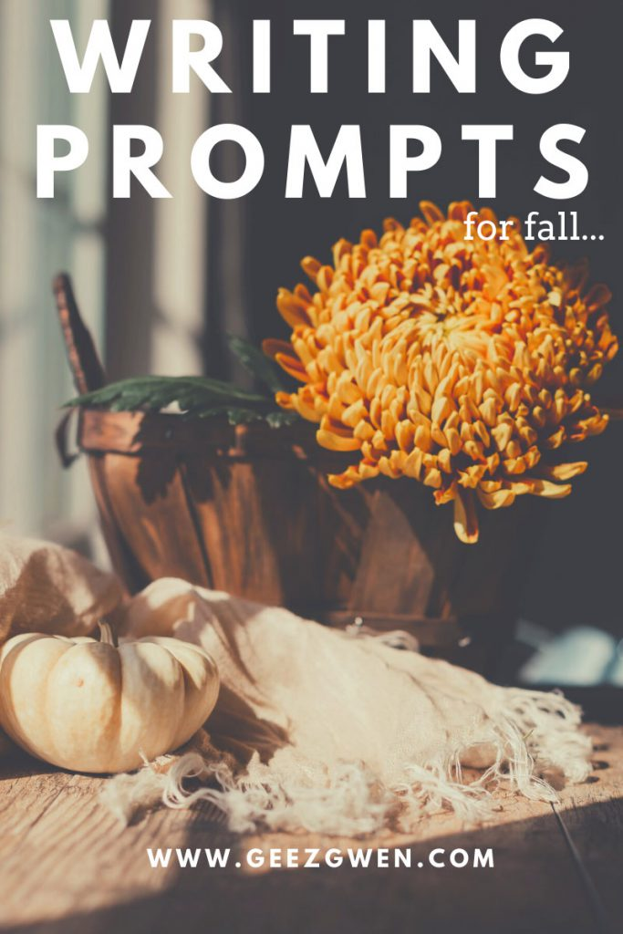A list of 25 writing prompts! Fall themed journal prompts for adults of classrooms.