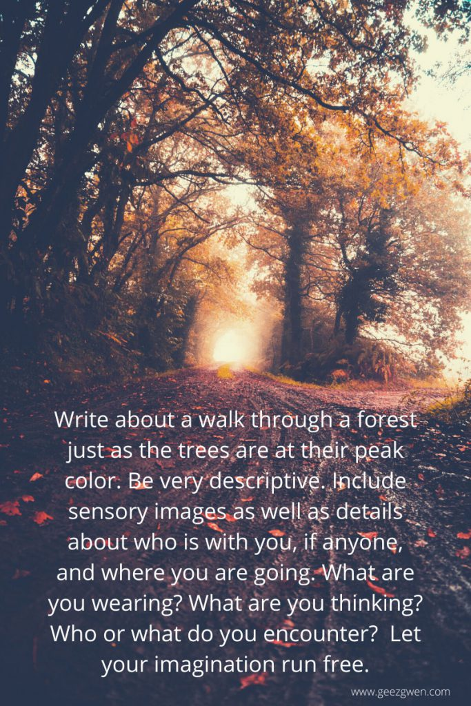 fall-themed writing prompts for journaling or classwork.