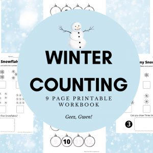 Printable Winter Counting Workbook