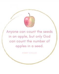 Apple Quote Print Fall Decor