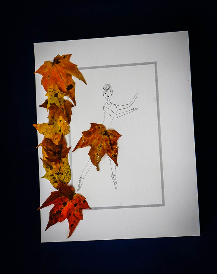 Fall Leaf Ballerina Craft