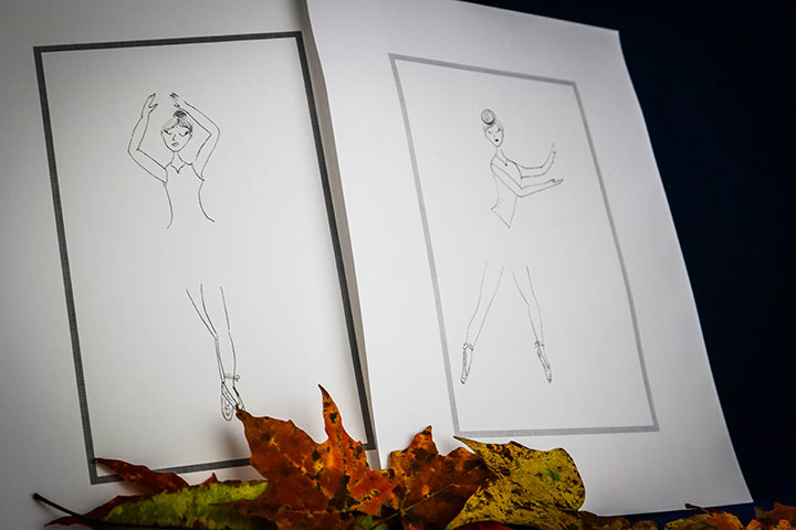 Ballerina Sketch Prints