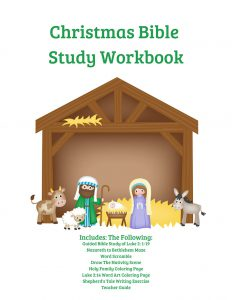 Christmas Bible Study for Kids Workbook
