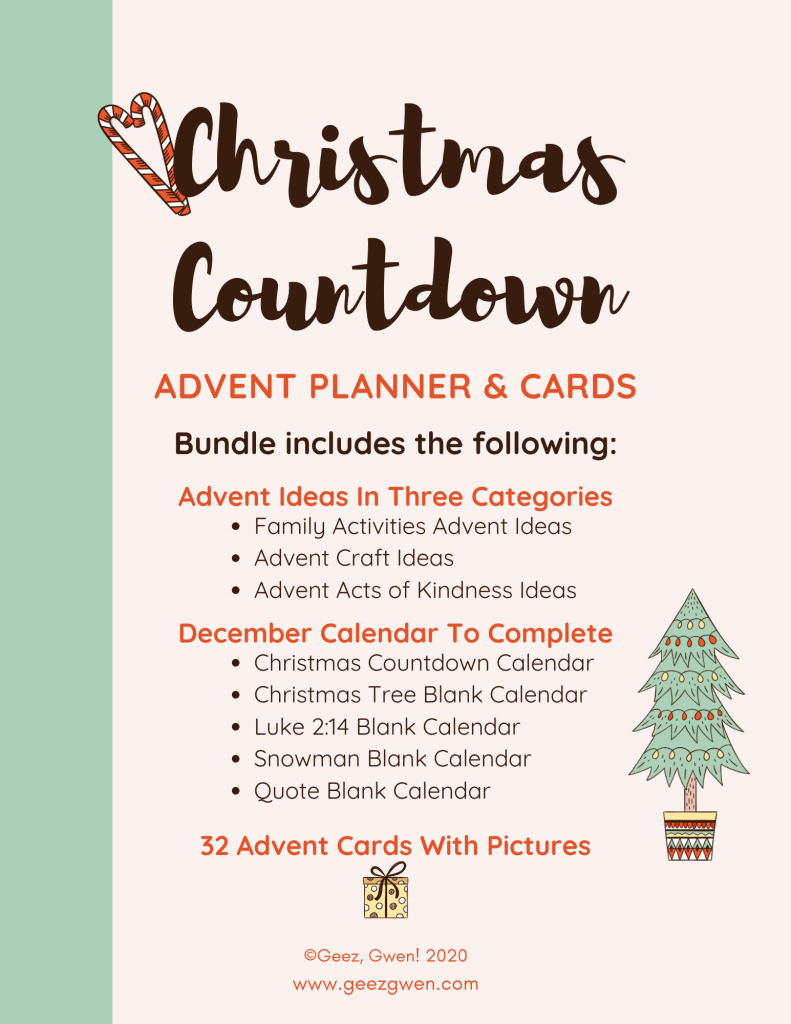 Christmas Countdown Advent Kit