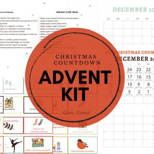 Christmas Countdown Advent Ideas for Kids