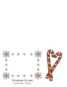 Printable Candy Cane Christmas Card for Kids To Give