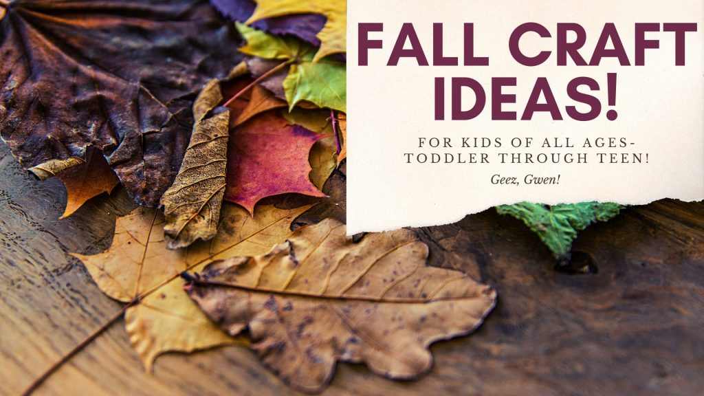 Fall Craft Ides for Kids of All Ages