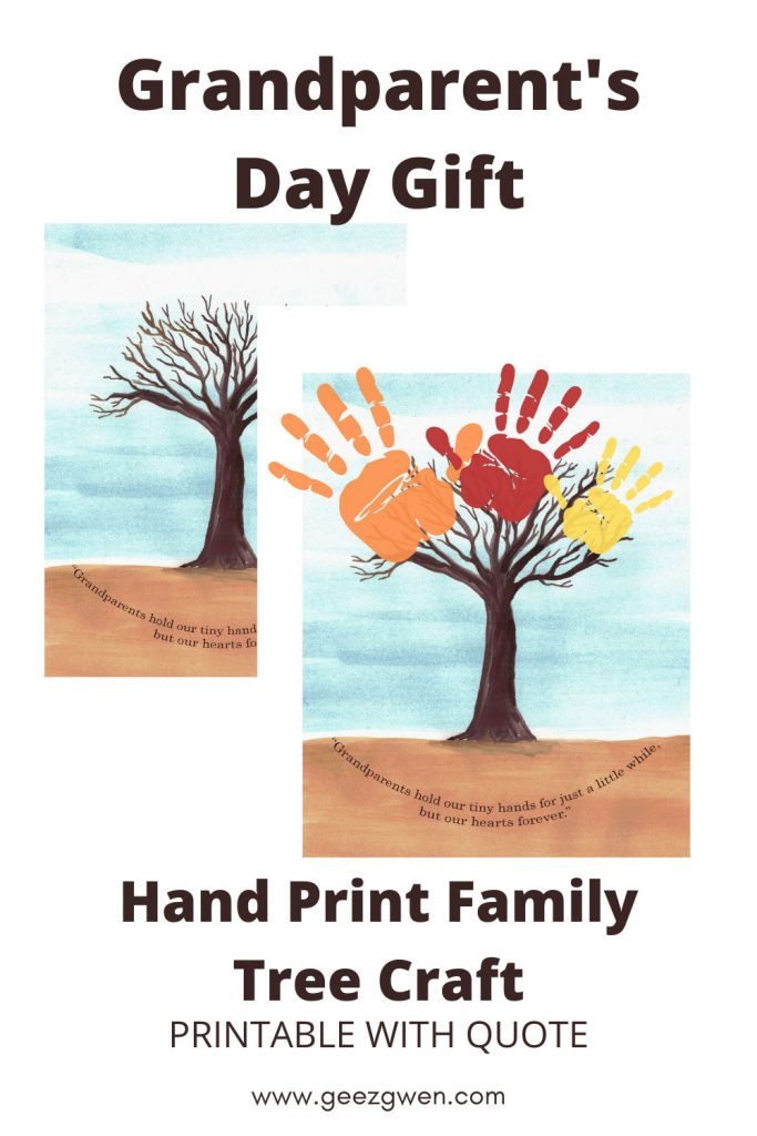 Handprint Family Tree Craft - Grandparents Day Gift