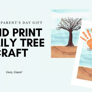 Handprint Tree Craft Grandparents Day Gift