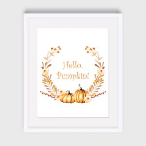 Hello Pumpkin Fall Print