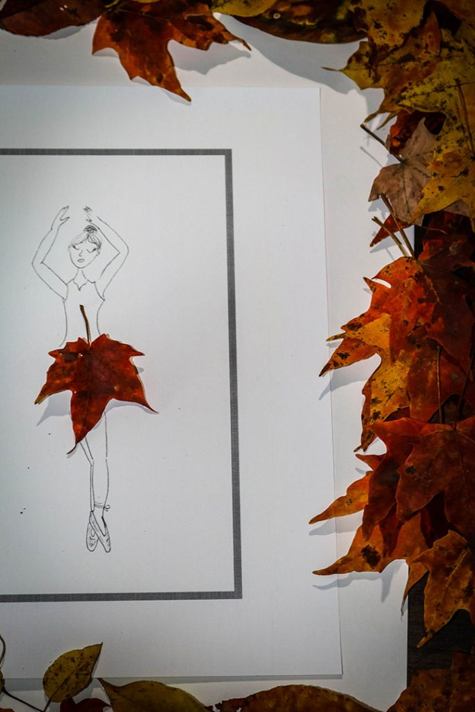 Fall Leaf Ballerina Craft for Kids